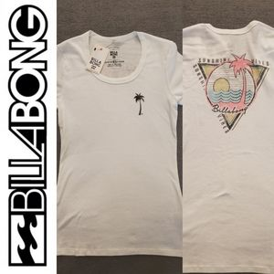 NWT Billabong Palm Tree Sunshine Vibes Tee